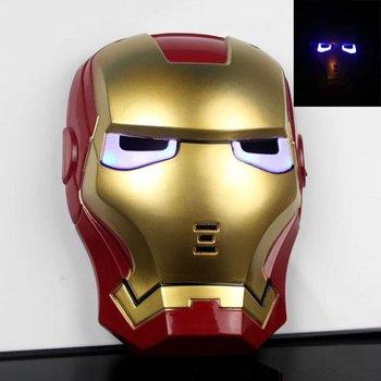 Free Shipping ,2012 new style,glowing eye ,iron man mask with LED light ,Masquerade Masks,90g per piece,10pcs/lot