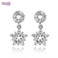 Xuping accessories sweet earrings earring female gold plated zircon married stud earring girlfriend gifts