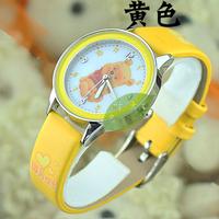 2pcs/lot Brand Cute kids quartz leather wristwatch Cartoon child watch WINNIE Christmas gift+free shipping