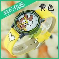 2pcs/lot Brand Cute kids wristwatches Kezzi rabbit child student watch girl boy table +christmas gift