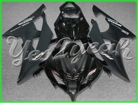 Fits for 08 09 00 11 YZF-R6 YZFR6 2008 2009 2010 2011 fairing  All Black ABS Fairing MJ89CK6