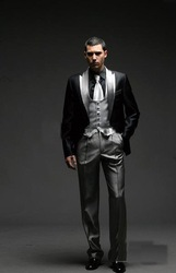 2013 Best Selling Men Complete Designer Bridegroom Wedding Prom Suits/Groom Tuxedos (jacket+pants+vest) FDJKH2354(China (Mainland))
