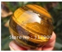 Rare 75mm tigereye natural quartz crystal sphere ball healing
