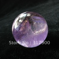 60mm Polished Natural Purple QUARTZ Crystal Sphere Ball Stone Healing
