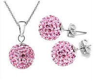 SS002 Top Quality Crystal Necklace+Earring Set , Charmhouse  Jewelry Set, Free Shipping