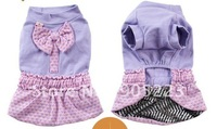 1pc Baby 2012 autumn   love cocoa skirt pet skirt teddy vip pet clothes Free Shipping