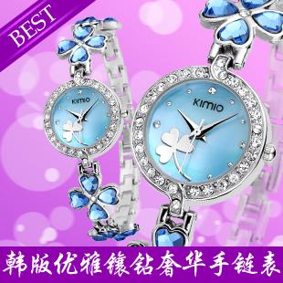 Fashion bracelet watch kimio four leaf grass rhinestone table fashion table women's quartz watch(China (Mainland))