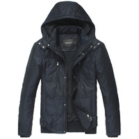 George 2012 commercial men's clothing outerwear removable cap windproof thermal down coat male