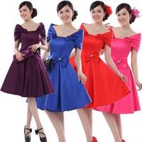 Bridal bag dress short new fashion evening dresses 2015 new fashion women's wear the sarafan party dresses
