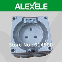 Copy Clipsal UK Standard 56SO313 Single Phase IP66 3 Flat Pin 250V 13A Socket