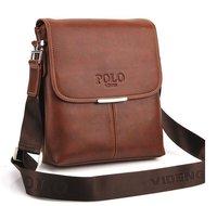 HOT!2012 fashion men shoulder bag,men leather messenger bag,business bag,free shipping+Factory price {black&brown}#MB05