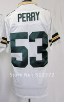 Free Shipping!!! 2012 new style jersey #53 Nick Perry 2012 new white jersey