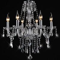 Crystal lamp fashion brief crystal living room lamps bedroom pendant light
