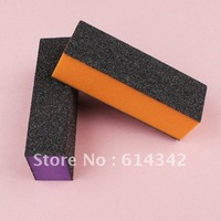 3 ways black nail  buffer block for buffing and sanding file, DIY manicure nail tool Wholesales