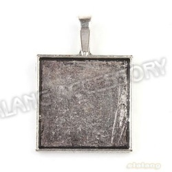 Charms Square Shape Photo Frame Pendant Antique Silver Plated 24pcs/lot Zinc Alloy Fit Necklace & Jewelry DIY 39*28*3mm 143367(China (Mainland))