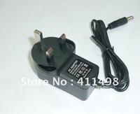 FREE SHIPPING 12V 1A DC switch UK plug power adapter three flat pin cctv accessory