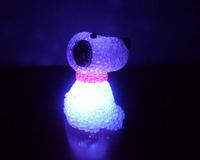 Colorful crystal dog small night light colorful crystal night light toy night market