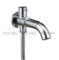Wall Mounted Luxury Design Chrome Brass Bathroom  Bath Tub Spout NY93003  Free Shipping