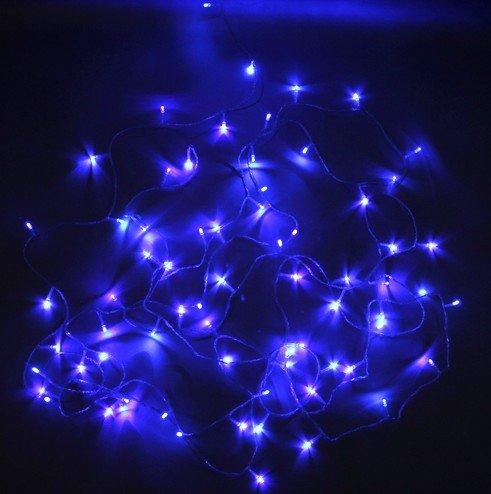 Led flashing light string lights
