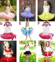 free shipping,Pettiskirts Dresses Set,chiffon-tutu-girl-dress,ball gown dress set(TOP+skirt)