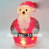 Free shipping Christmas decoration supplies 40*25*20cm iron winding belt lamp Santa zelda