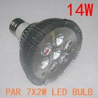 High power Cree 14W Par30 LED Lamp Bulb E27 SpotLight White CE&ROHS Approval Free Shipping