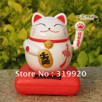 Solar toys for car decoration / Fortune cat japan Christmas gift Free shipping 1pcs/lot