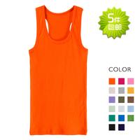 All-match 100% cotton tank basic small vest t-shirt 15 women's ,Free shipping