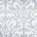 [Mius Art Mosaic] Silver mirror &amp; pure white color art Glass mosaic tile  puzzle for backsplash KL105