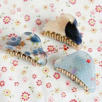 3CM Pony printing flowers headbands/Elastic hair claws/Hair accessories/Headwear.Free shipping.Mix colors.Beautiful.ZJMC-05M30