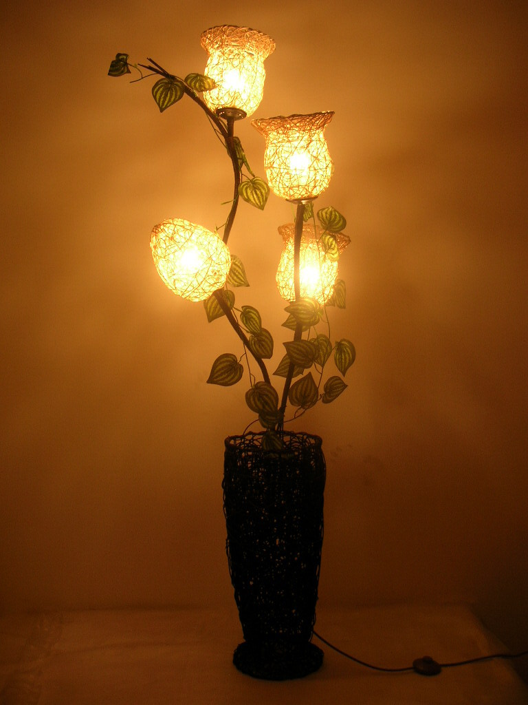 2014 rustic rattan handmade woven pattern bottle decoration floor lamp infloor lamps from - Hand made lamps ...