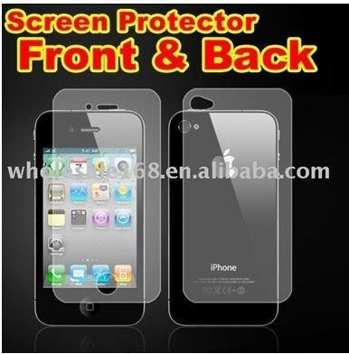 For iPhone 4 4G 4S Full body protector Retail Package with (30 Front +30 Back)(China (Mainland))