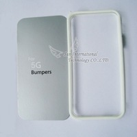Free shipping 40pcs/lot for iphone 5 5g bumper Newest Soft bumper frame case for iphone5 with retail package