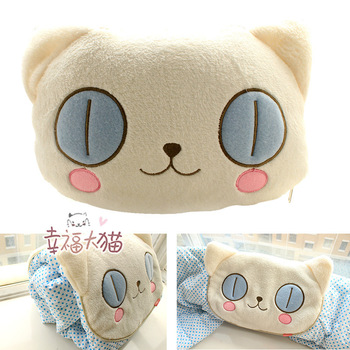 Free Shipping Cartoon big eye Cat  big eye Dog  Easily Bear Pillow  Air Conditioning Cushion