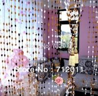 4pcs/много 1.4 m * 2,5 м готовые сделанные карнизы карман твердых марлевые шторы, гирлянда стеклянных пряжи, 20 имеющийся цвет