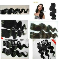 Natural Color Virgin Remy Brazilian Human Machine Weft Hair Body Wave 100g/pcs   22 inch    3 Piece  /  Lot