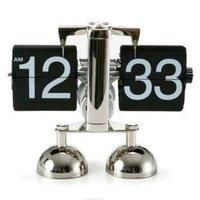 Free Shipping Wholesale Fashion Personalized Libra Flip Clock  Metal Watch  Creative Desk Clock Gear Electronic  Digital DIY