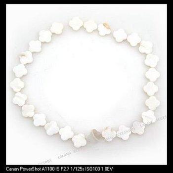 Бесплатная доставка 3strings/lot белого бисера цветок оболочки прямое отверстие ювелирных изделий шарика подходящие...