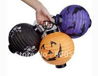 Halloween decoration supplies props jack pumpkin lamp portable pumpkin paper lantern battery