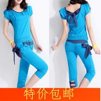 Women's plus size sportswear casual set female fashion short-sleeve sports set Women
