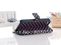 Luxury Fleck print handbag design Pu leather trellis cover case for iphone 5 5G 10pcs/lot  Free shipping
