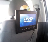 9 inch headrest dvd player&TFT headrest screen with bracket,high definition+FM and IR built-in wireless games function