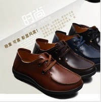 free shipping!Camel plus size genuine leather breathable popular male shoes fashionable casual leather 45 46 47!Hot sale