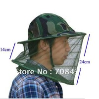 New Mosquito Fly Insect Bee Fishing Mask Face Protect Hat Net Camouflage  5pcs/lot