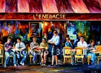 Cafe In Paris -  Oil Painting On Canavs