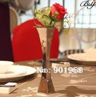 Home hotel decoration table stainless steel flower holder Vase pot
