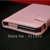 Free shipping  Universal Case upscale leather case protective sleeve 5inch mobile