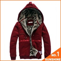 Free Shipping 2012 !100% Cotton Men's Casual Villus Inside Upset Warm Hoody Sweater/Woven Coat   HQFS01