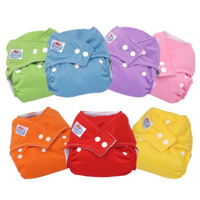 Best selling! 7 colors Baby sun baby napkin leak-proof cloth diaper one size adjustable 7cs/Lot Free shipping(China (Mainland))