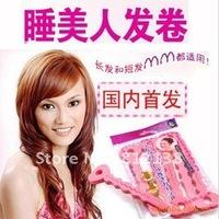 Free shipping 6bags/lot 2012 Styling Sleeping Beauty sponge hair curlers magic sponge hair curler,hair Accessories Bun12pcs/lot